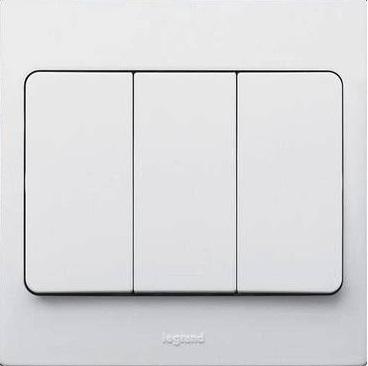 WHITE 3G 1W 10A SWITCH