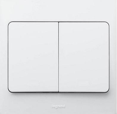 WHITE 2G 2W 20A SP SWITCH