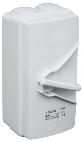 ISOLATOR SWITCH AC22 -2P 20A