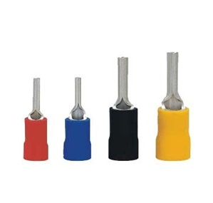 Pin Type Insulated Terminal 1.25-10, Red