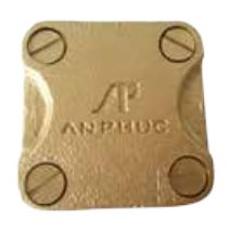 Square Tape Support Brass size 25x3mm - Copper Alloy
